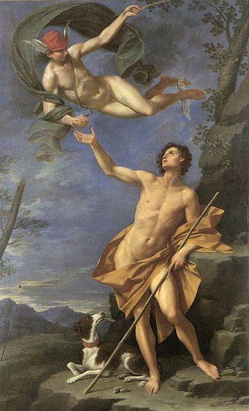 61 Donato Creti Mercury and Paris 1745