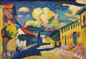 Vassily_Kandinsky_1908_Murnau_Dorfstrasse-art-styles